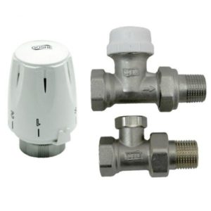 Radiaatori ventiilide komplekt sirge ½  koos termopeaga