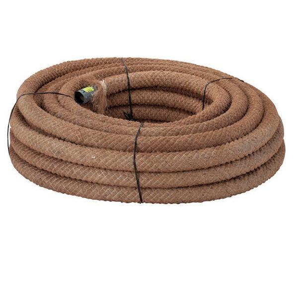 Põllumajanduse PVC drenaazitoru kookos filtriga 100/88mm, rull 50m