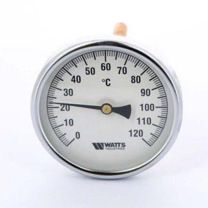 Termomeeter 0-120°C ½ 100mm 10cm tagant ühendusega