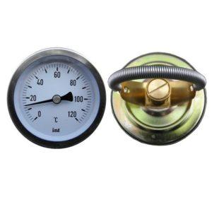 Termomeeter 0-120°C 63mm torupealse paigaldusvedruga