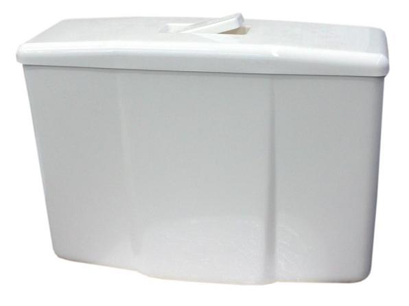 Plastmassist loputuskast seinapealne klahviga valge
