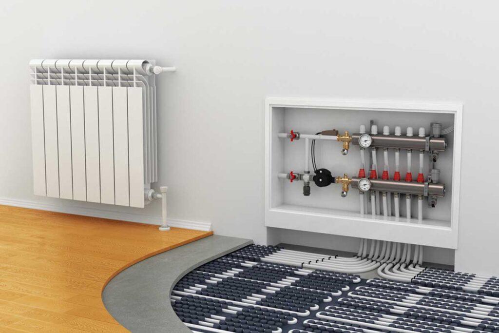 Kollektorkapp põrandakütte süsteemile
